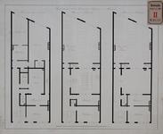 RT-III-244 Ontwerp van een nieuwe Garnizoensinfirmerie aan de Boshoek (plattegrond van de begane grond, 1e en 2e verdieping).