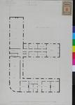 RT-III-256-1 Plattegrond van de begane grond voor het zeemanshuis aan de Westerhaven (ontwerptekening).
