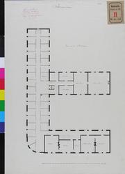RT-III-256-2 Plattegrond van de eerste verdieping voor het zeemanshuis aan de Westerhaven (ontwerptekening).