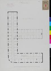 RT-III-256-3 Plattegrond van de tweede en derde verdieping voor het zeemanshuis aan de Westerhaven (ontwerptekening).