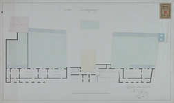 RT-IV-29-3 Plattegrond van de 3e verdieping voor een krankzinnigengesticht aan de Hoogstraat (plantekening).
