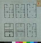 RT-IV-293-1 Plan voor een nieuw politie bureau (plattegrond van de kelder, begane grond, 1ste, 2e, 3e en zolderverdieping).