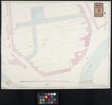 RT-IV-297 Plan van de percelen op het terrein waar de lakenramen stonden nabij de ontworpen 1e en 2e Weenastraat en het ...