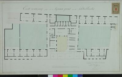 RT-IV-299-1 Plan voor de 1e verdieping van het krankzinnigengesticht aan de Hoogstraat (plattegrond).