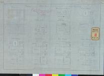 RT-IV-300-1 Plattegrond van het politiebureau in de Groote Pauwensteeg (fundering, kelder, begane grond / 1ste ...