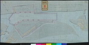 RT-IV-302-1 Situatietekening van de voormalige Marinewerf voor het bouwen van een entrepot in de omgeving van het ...