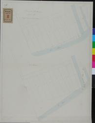 RT-IV-309-2 Kadastrale tekening van het tweede Nieuwe Werk. Sectie A. (1ste oorspronkelijke stand, 2e stand).