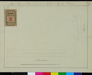 RT-IV-314 Plan voor het stellen van het hekwerk en het maken van de stoep voor het pand nr. 202 op de hoek van de ...