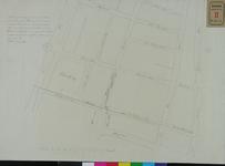 RT-IV-321 Plattegrond van een voorstel voor een ijzeren toevoerbuis in de Rodezand naar het bestaande riool tussen het ...