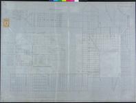 RT-IV-323-4 Plan voor de verbouwing van het krankzinnigengeslicht aan de Hoogstraat (plattegrond en doorsneden ...