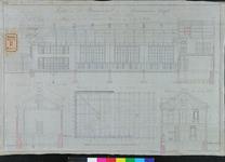 RT-IV-327-2 Project van een schoolgebouw aan de Schiedamsesingel (langsdoorsnede, dwarsdoorsneden en bovenaanzicht ...