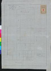 RT-IV-328 Plan van de bebouwing aan de Westerkade, in de omgeving van de Rivierstraat en het Zeemanshuis (met een rode ...
