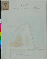 RT-IV-330 Plattegrond van de stalen (vaste onderlagen voor grond- of mestopslag) op het Bosland.
