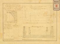 RT-IV-338 Tekening behorende bij het bestek van aanbesteding, betreffende het maken van de fundering landhoofden en ...