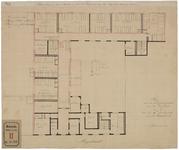 RT-IV-340-1 Plan voor de verbouwing van het Syphilitisch Ziekenhuis voor vrouwen aan de Hoogstraat. Plattegrond van de ...