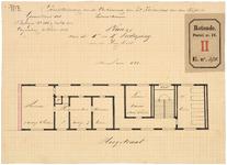 RT-IV-340-3 Plan voor de verbouwing van het ziekenhuis voor aan syphilis lijdende vrouwen aan de Hoogstraat. ...