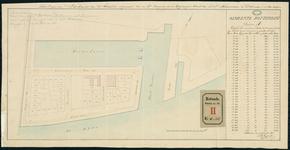 RT-IV-342 Kadastrale kaart van het Nieuwewerk, sectie A. Plattegrond van te verkopen percelen.