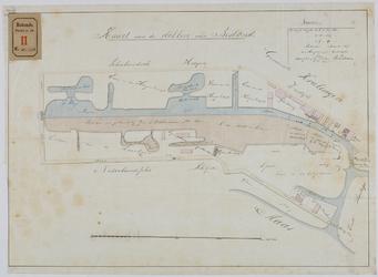 RT-IV-346 Kaart van de slikken in het Bosland en omgeving (met de weergave van de percelen en hun eigenaren).