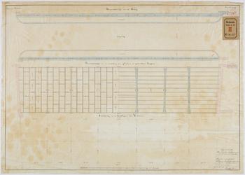 RT-IV-347-2 Detailtekening van de gegoten en geslagen ijzerwerken voor een vaste brug over de Rotte aan het ...