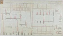 RT-IV-349-2 Funderingsplan voor de verbouwing van het 2e gedeelte van het krankzinnigengesticht aan de Hoogstraat ...