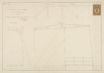 RT-IV-351 Ontwerp voor een ijzeren ophaalbrug over de Botersloot (Varkenbrug) - aanzichten.