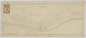 RT-V-414-3 Kadastrale kaart van de Rottekade in oorspronkelijke staat van 1830. Veranderde percelen.