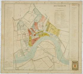 RT-V-433 Kaart van een uitbreidingsplan van de gemeente Rotterdam in omgeving: Delfshaven, Overschie, Hillegersberg, ...
