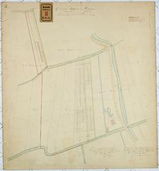 RT-V-435 Kadastrale kaart van een gedeelte gemeente Delfshaven, Sectie B. In de omgeving: Diergaardesingel, ...