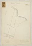 RT-V-436 Kadastrale kaart van een gedeelte gemeente Overschie, Sectie C. In de omgeving: Rotterdamse Schie, ...