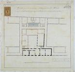 RT-V-451-1 Plattegrond van de eerste verdieping van het krankzinnigengesticht voor de aanleg van een heetwater- en ...