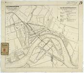 RT-V-458-2 Plattegrond van Rotterdam met twee spoorlijnen: Staats-Spoorweglijn en de aansluitingslijn van het ...