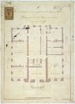 RT-V-459-2 Plattegrond van het souterrain voor het archief van het Museum Boijmans, aan de Grote Pauwensteeg en ...
