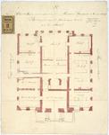 RT-V-459-3 Plattegrond van het souterrain voor het archief van het Museum Boijmans, aan de Grote Pauwensteeg en ...
