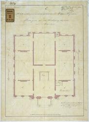 RT-V-459-4 Plattegrond van de 1ste verdieping voor het Museum Boijmans, aan de Grote Pauwensteeg en Boijmansstraat ...