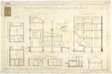 RT-V-471-2 Plattegrond voor een te bouwen schoolgebouw in de Huge de Grootstraat (ontwerptekening).