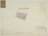 RT-VI-503 Tekening extract uit het kadastraleplan van Rotterdam, waarop de kerk van de H. Rosalia het middelpunt een ...