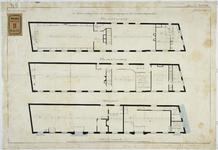 RT-VI-506-1 Plattegrond van de 1e 2e verdiepingen voor de kraamverpleging in het zakkendragershuis aan de Voorstraat ...