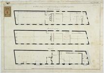 RT-VI-506-2 Plattegrond van de 1e en 2e verdiepingen voor de kraamverpleging in het zakkendragershuis aan de Voorstraat ...