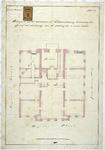 RT-VI-511 Plattegrond van de inbouwkasten voor het archief in het Museum Boymans aan de Boijmansstraat en het Boijmansplein.