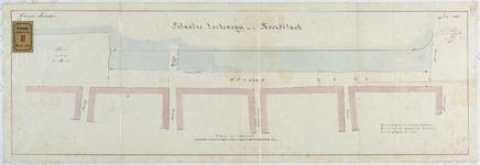 RT-VI-519 Situatietekening van de Noordblaak, voor het maken van de kademuur tussen de Niieuwsteeg, Keizerbrug en ...
