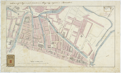 RT-VI-522 Plattegrond van de Binnenrotte. Behoort bij het rapport voor het maken van een brug over de Goudsevest, ...