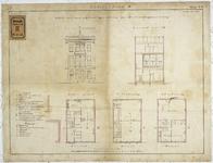 RT-VI-536-2 Plantekening met voorgevel, doorsnede en plattegrond voor een te bouwen openbare school aan de Jonker ...