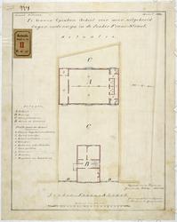 RT-VI-537-1 Situatie en plattegrond voor een te bouwen school in de Jonker Fransstraat.