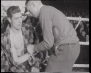 BB-0315 Luc van Dam wint van de Italiaanse bokser Locatelli. Speelduur: 2 minuten
