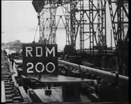 BB-0354 Bij de RDM wordt de kielplaat gelegd voor de tweede Nieuw Amsterdam. Speelduur: 43 sec.