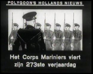 BB-0386 Prins Bernhard is aanwezig bij de 273 ste verjaardag van het Korps Mariniers op het Schuttersveld. Speelduur: 1 ...