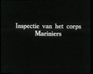 BB-0428 Inspectie door Prins Hendrik ter gelegenheid van het 250-jarig bestaan van het Korps Mariniers; het opspelden ...