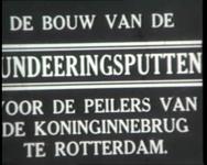 BB-0720-1 Bouw Koninginnebrug; funderingsputten voor peilers door H.F. Boersma; op een terrein aan de Waalhaven maakt ...