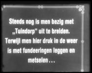 BB-0738 Beelden van de uitbreiding van Tuindorp Vreewijk. Overzicht van het bouwterrein omgeving Lange Geer, aanvoer ...