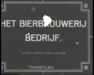 BB-0898 Film met titelkaarten over brouwen, verpakken en vervoer van bier. Geschiedenis van de brouwerij.
